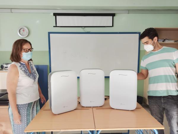 Donación de purificadores de aire con filtros HEPA